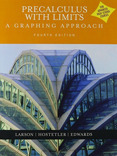 Precalculus With Limits: A Graphing Approach (Advanced: Hostetler, Robert P.;