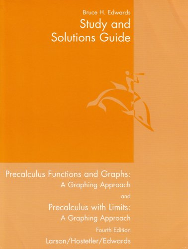 9780618394814: Study and Solutions Guide to Precalculus Functions and Graphs: A Graphing Approach / Precalculus With Limits: A Graphing Approach