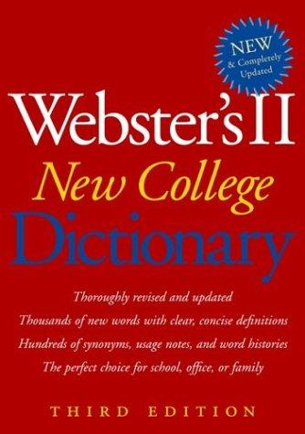9780618396016: Houghton Mifflin 0618396012 Websters II Hardbound New College Dictionary