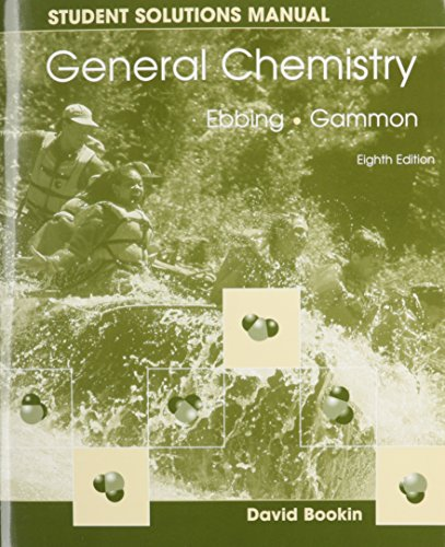 9780618399451: General Chemistry Student Solutions Manual, 8th Edition