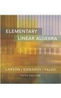 Elementary Linear Algebra: Text with Student CD: Ron Larson