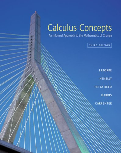 9780618401284: Calculus Concepts: An Informal Approach to the Mathematics of Change
