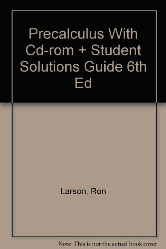9780618401529: Precalculus With Cd-rom And Student Solutions Guide Sixth Edition