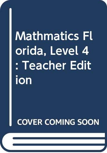 9780618402892: Houghton Mifflin Mathmatics Florida: Teacher's Edition Level 4 Volume 1 2005