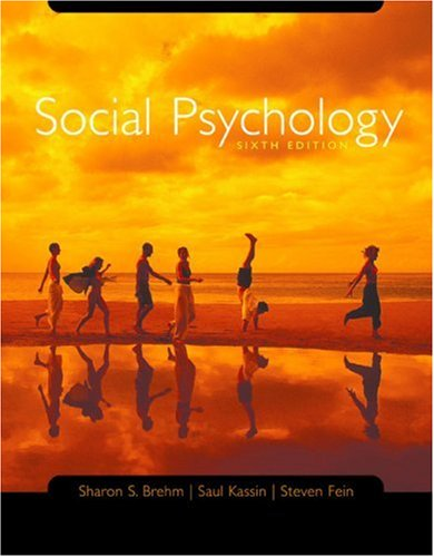 9780618403370: Social Psychology Sixth Edition