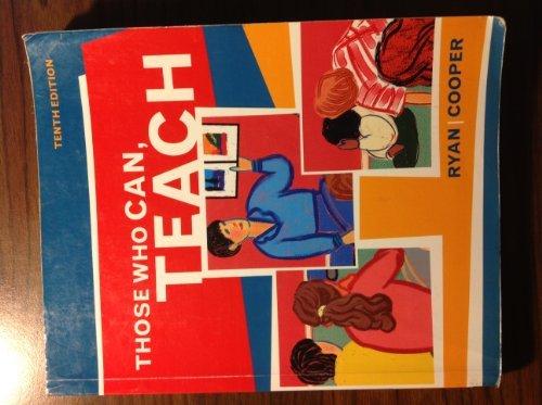 9780618404339: Those Who Can Teach, Custom Publication