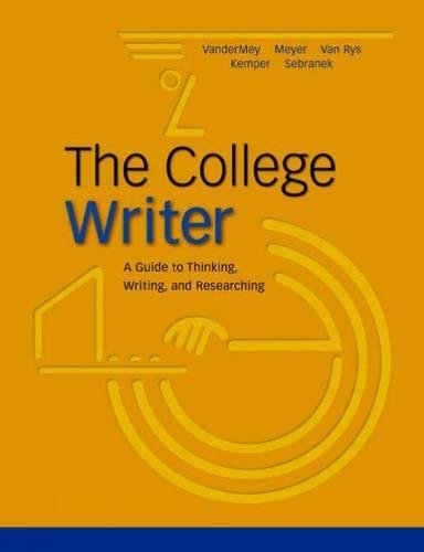 9780618405411: The College Writer: A Guide to Thinking, Writing, and Researching, MLA Update