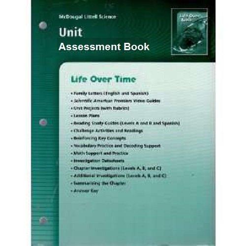 9780618406197: McDougal Littell Science: Life Over Time: Unit Assessment Book