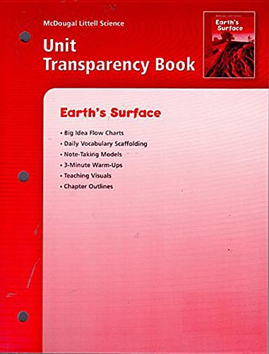 9780618406272: McDougal Littell Science: Earth's Surface: Unit Transparency Book