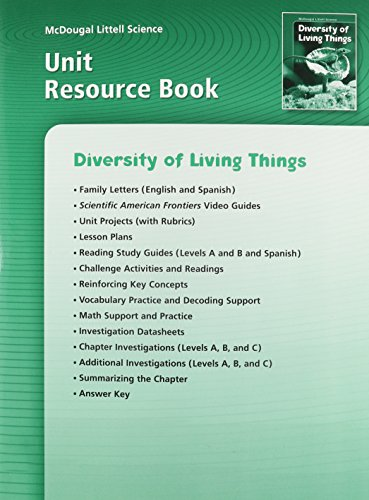 9780618406524: McDougal Littell Science: Diversity of Living Things: Unit Resource Book
