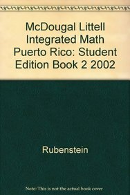 9780618407125: McDougal Littell Integrated Math Puerto Rico: Student Edition Book 2 2002
