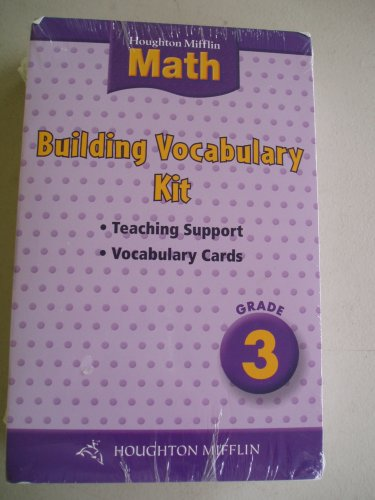 9780618407644: Houghton Mifflin Math: Building Math Vocabulary Kit Grade 3