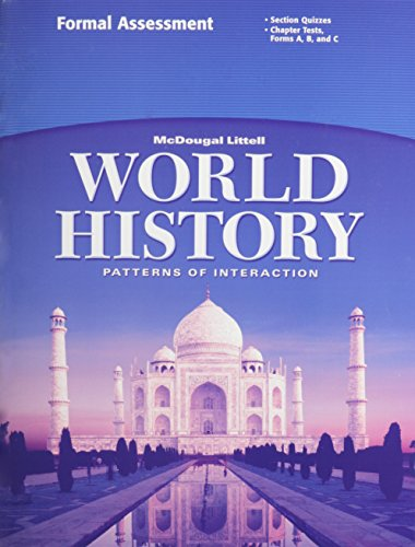 9780618409280: McDougal Littell World History: Patterns of Interaction: Formal Assessment Grades 9-12