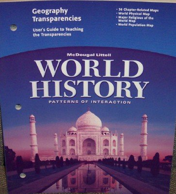 9780618409297: McDougal Littell World History: Patterns of Interaction: Geography Transparencies