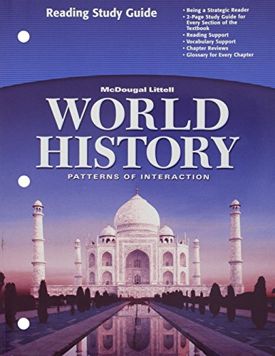 9780618409334: World History: Patterns of Interaction: Reading Study Guide, English