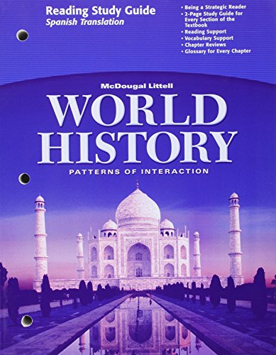 World History Patterns of Interaction (Reading Study Guide - Spanish Translation): LITTEL, MCDOUGAL