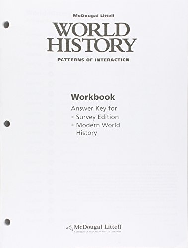 9780618409396: World History: Patterns of Interaction: Workbook Answer Key