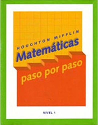 9780618409532: Math Steps Spanish: Student Edition Grade 1 2003 (Spanish Edition)
