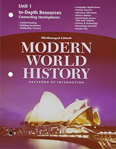 9780618409754: McDougal Littell World History: Patterns of Interaction: In-Depth Resources Unit 1 Grades 9-12 Modern World History