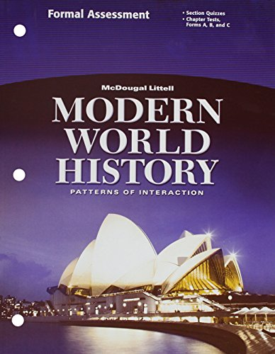 9780618409853: McDougal Littell World History: Patterns of Interaction: Formal Assessment Grades 9-12 Modern World History
