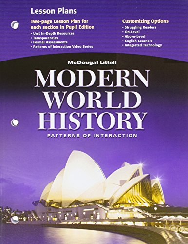 9780618409891: McDougal Littell World History: Patterns of Interaction: Lesson Plans Grades 9-12 Modern World History