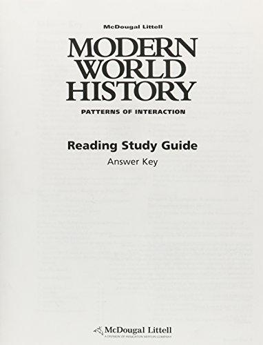 9780618409945: Modern World History: Patterns of Interaction ...