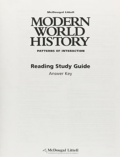 9780618409945: Modern World History: Patterns of Interaction: Reading Study Guide Answer Key