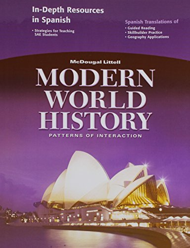 9780618409983: Modern World History: Patterns of Interaction: In-Depth Resources in Spanish (Spanish Edition)