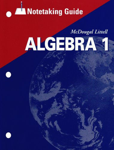 9780618410217: Algebra 1, Grades 9-12 Notetaking Guide: Mcdougal Littell High School Math