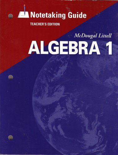 9780618410224: McDougal Littell Algebra 1: Notetaking Guide Teachers Edition