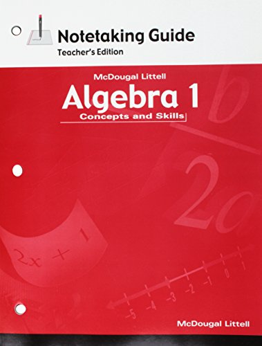 9780618410613: Algebra 1: Concepts and Skills: Notetaking Guide Teacher Edition