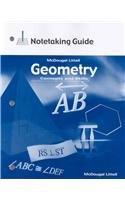 9780618410637: Geometry: Concepts & Skills, Grade 10: Notetaking Guide (Geometry: Concepts and Skills)