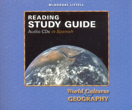 9780618410958: McDougal Littell World Cultures & Geography: Reading Study Guide Audio CDs (Spanish) Grades 6-8 (Spanish Edition)