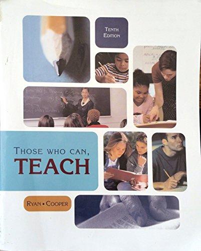 9780618411191: Those Who Can Teach, Custom Publication