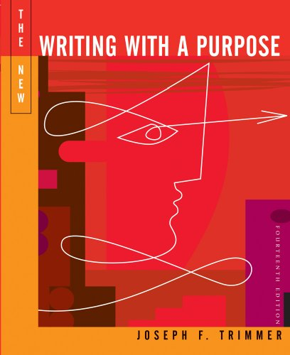 9780618412082: The New Writing With A Purpose: Brief Edition, Fourteenth Edition