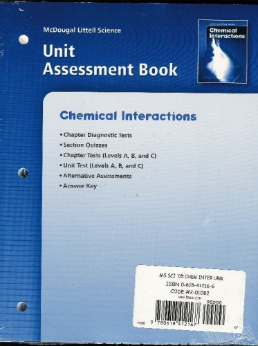 9780618412167: McDougal Littell Science: Chemical Interactions: Unit Resource Materials