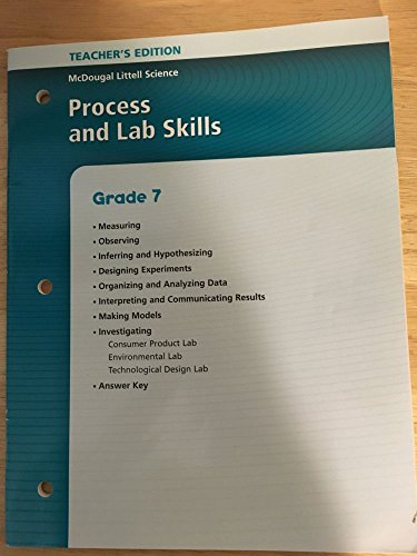 9780618413621: McDougal Littell Science: Process and Lab Skills Teacher's Edition Grade 7