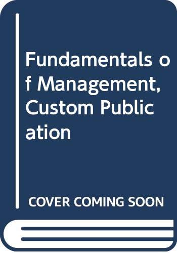 9780618419838: Fundamentals of Management, Custom Publication
