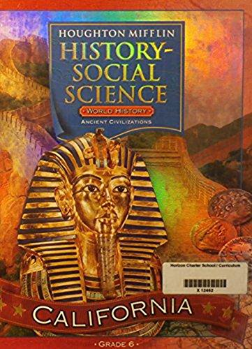 9780618423941: Houghton Mifflin History Social Science California: Student Edition Level 6 2007