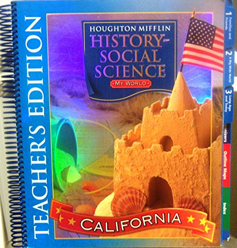9780618424085: Houghton Mifflin Social Studies California: Teach Ed Level K 2007