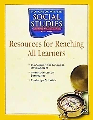 9780618424153: Houghton Mifflin Social Studies: My World Poster Book Grade K My World