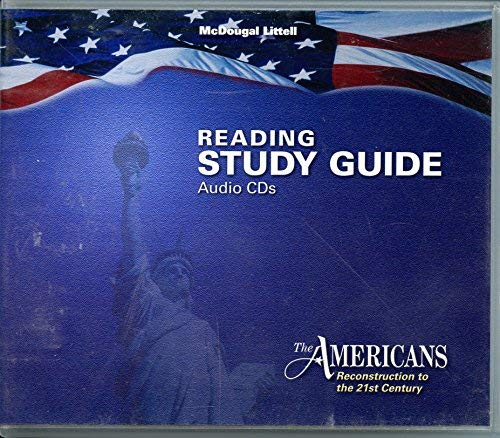 9780618425983: The Americans: Reconstruction to the 21st Century: Reading Study Guide Audio CDs (English)