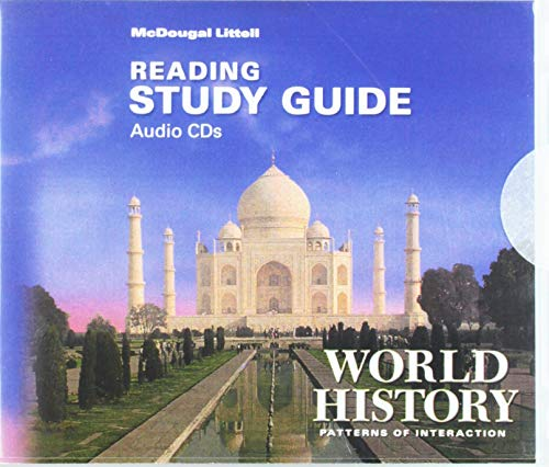 9780618427253: McDougal Littell World History: Patterns of Interaction: Reading Study Guide Audio CDs (English)