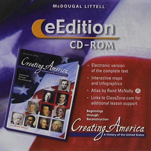 9780618427499: Creating America: Beginnings through Reconstruction: eEdition CD-ROM 2005