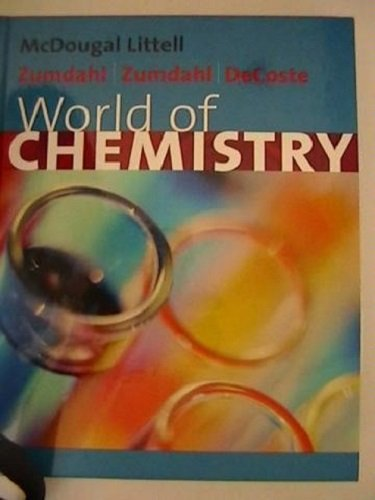9780618428830: McDougal Littell World of Chemistry Virginia: Supplement to Accompany Answer Key Grades 9-12