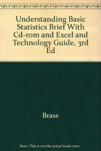 Understanding Basic Statistics Brief With Cd-rom And Excel And Technology Guide, Third Edition: ...