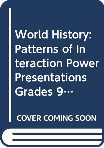 9780618431670: McDougal Littell World History: Patterns of Interaction: Power Presentations CD-ROM Grades 9-12 Modern World History