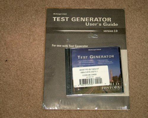 9780618432707: McDougal Littell World History: Patterns of Interaction: Test Generator Kit Grades 9-12