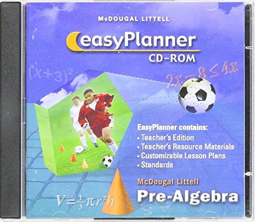 9780618433322: McDougal Littell Pre-Algebra: EasyPlanner CD-ROM