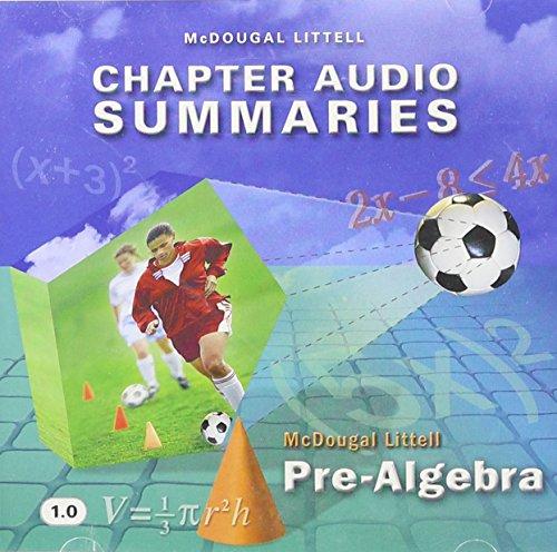 McDougal Littell Pre-Algebra: Chapter Audio Summaries CD-ROM: MCDOUGAL LITTEL